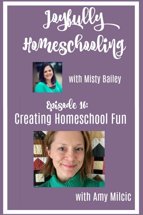 Today we are chatting all things homeschool fun with Amy Milcic. After this episode you will be ready to ROCK your homeschool!